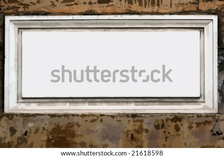 vector - empty street sign - space for text - - stock vector