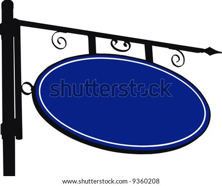 vector - empty street sign - space for text - stock vector