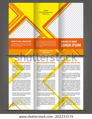 Vector empty trifold brochure design print template design