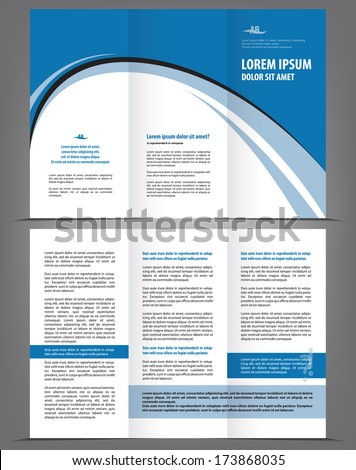 Vector Empty Trifold Brochure Template Design Stock Vector Royalty