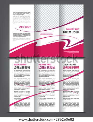 Vector Empty Trifold Brochure Template Print Stock Vector