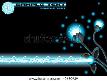 vector energy plant (blue) - stock vector