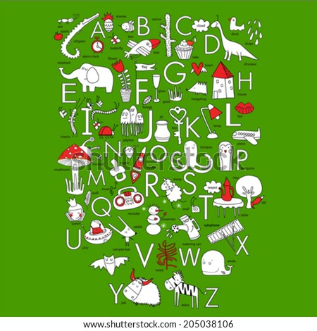 Vector English alphabet - stock vector