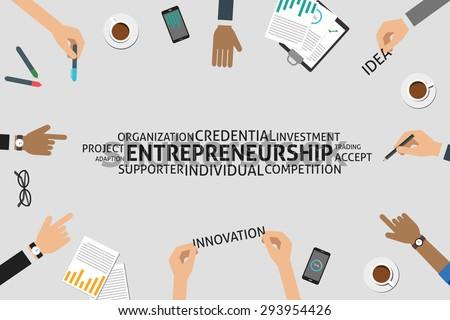 vector entrepreneurship concept,template - stock vector