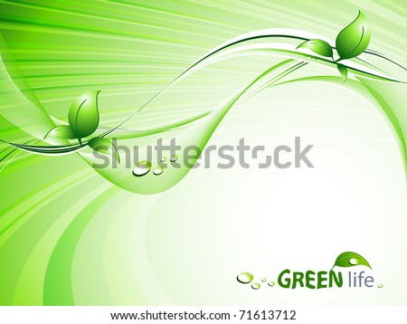 vector environmental background with  copy space. Eps10 - stock vector