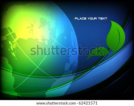 vector environmental background with globe and copy space. Eps10 - stock vector