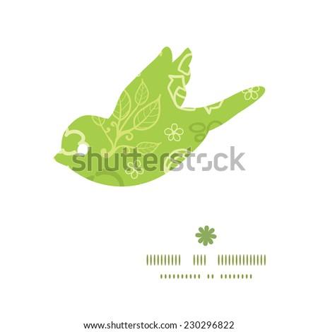 Vector environmental bird silhouette pattern frame - stock vector
