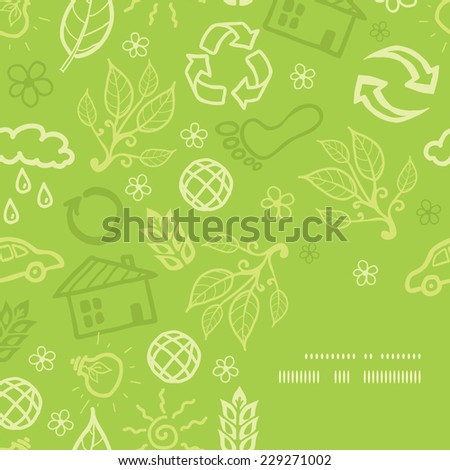 Vector environmental frame corner pattern background