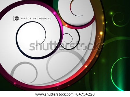 Vector- eps10 Abstract Swirls Background - stock vector
