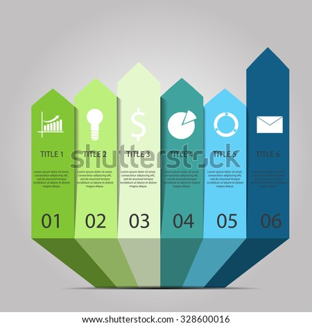 Vector  eps 10 arrows infographic Template for diagram graph presentation and chart - stock vector