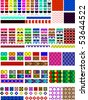 Vector eps8.  5 Different swatch patterns in multiple colors ready to drag & drop in your swatch or brush pallets, which are easily editable to the colors you want. Fill and brush examples are shown. - stock vector