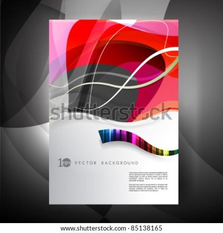 Vector - eps10 Flyer or Cover Design - stock vector