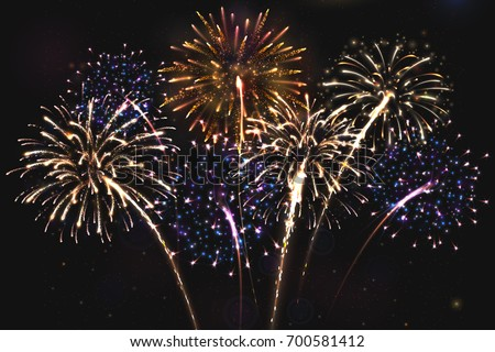 fireworks stock images, royalty-free images & vectors | shutterstock, Presentation templates