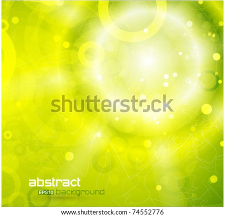 Vector eps10 warm green background - stock vector