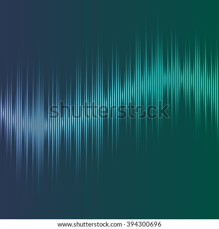 Vector equalizer, colorful musical bar. Dark green background.