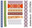 vector ethnic medieval patterns - stock vector