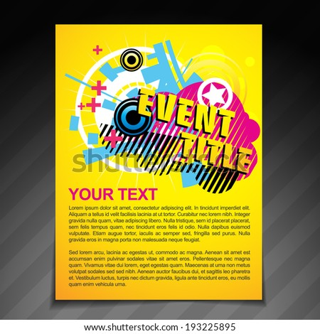 Vector Event Brochure Flyer Template Poster Stock Vector - Event brochure template