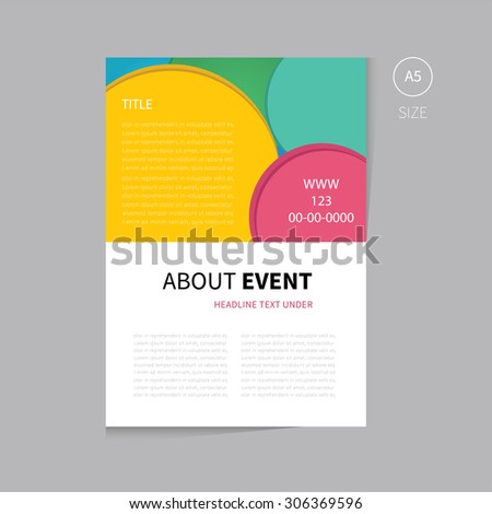 Business Brochure Template Flyer Design Annual Stock Vector - Event brochure template