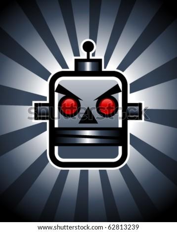 Vector Evil Robot - stock vector