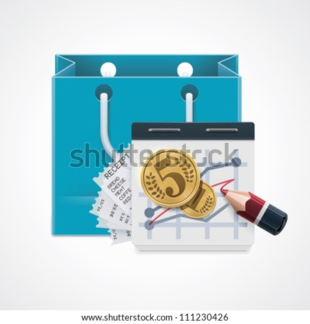 Vector expensive shopping icon - stock vector