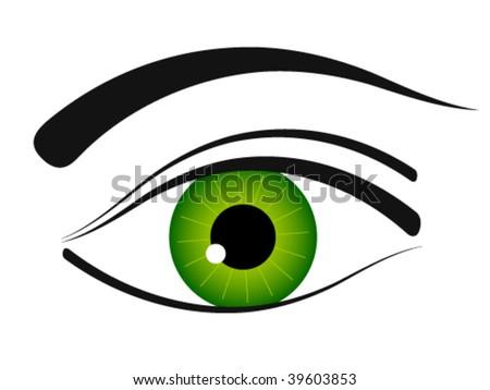 vector eye icon - stock vector