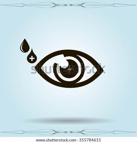 Vector Eye Icon Symbol Stock Vector 355784615 Shutterstock