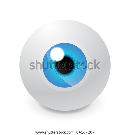 Vector eyeball - stock vector