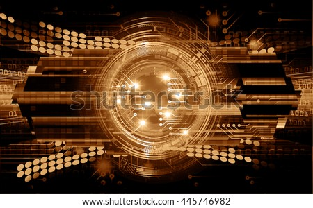 vector eyeball future technology, security concept background, Dark brown cyber Light Abstract background for computer graphic website internet. circuit. illustration. infographics. motion move