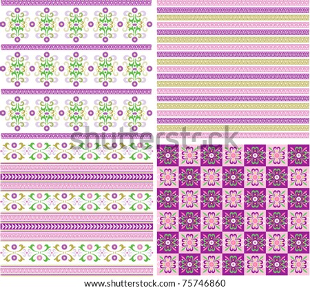 Vector fabric, structure, pattern from lines and colors - stock vector