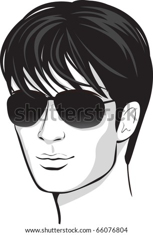 vector face man. design element - stock vector