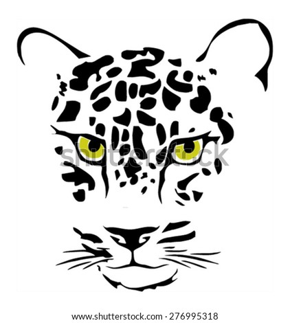 Jaguar animal face drawing