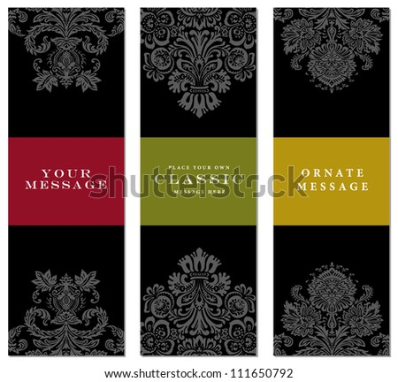 Vector Faded Frame Set. Easy to edit. Perfect for invitations or announcements. - stock vector