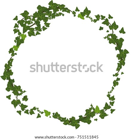 Vector fall frame with ivy leaves and branch