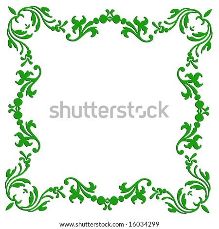border frame fancy. Vector Fancy Floral Elements Border Frame