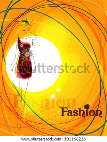 Vector fashion background ( poster ) - stock vector