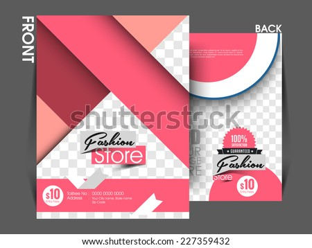 Vector Fashion Front Back Flyer Template Stock Vector Hd Royalty