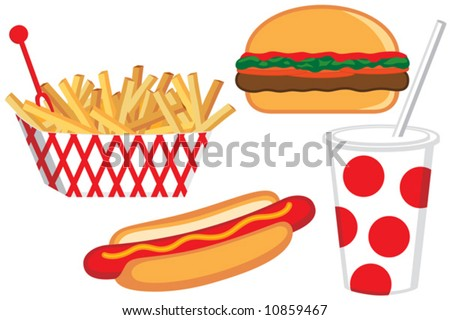 Vector Fast Food Collection - stock vector