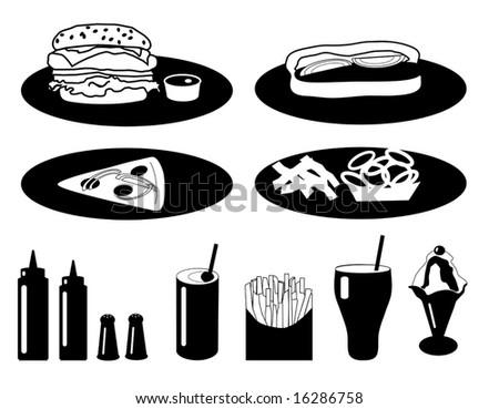 Vector Fast Food Collection is original artwork. - stock vector