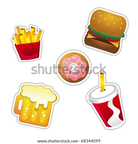 Vector Fast Food Icon - stock vector