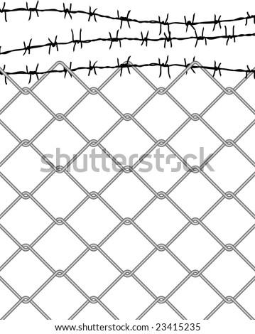 vector fence - stock vector