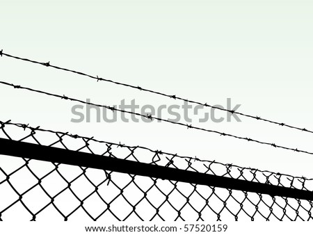vector fence - stock vector