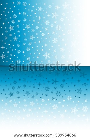Vector Festive Ice Blue Background with Space for Text