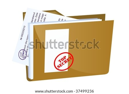 vector file containing secret documents - stock vector