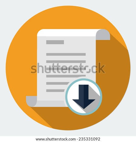 Vector file download icon - stock vector