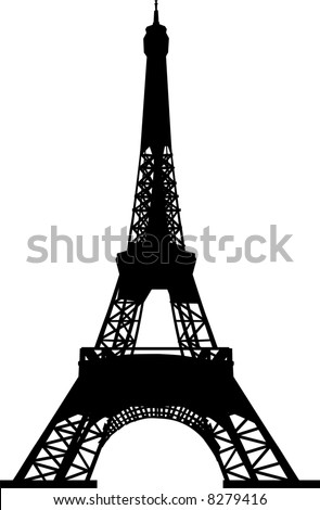 vector file Eiffel tower silhouette
