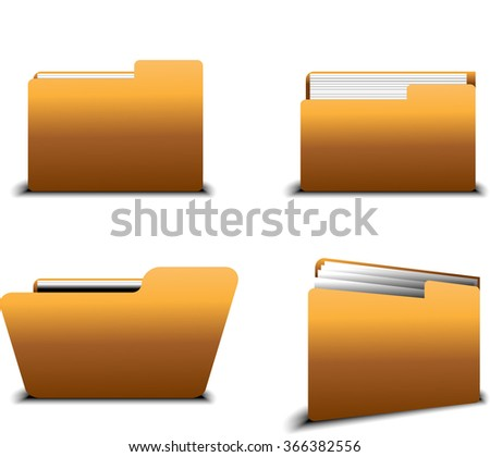 Vector File Icon - stock vector