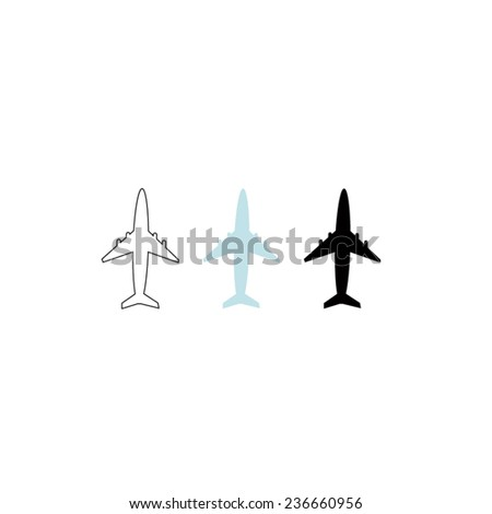 vector file of airplane icon - stock vector