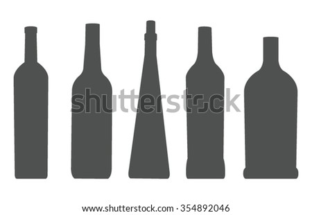 vector file of bottle silhouette