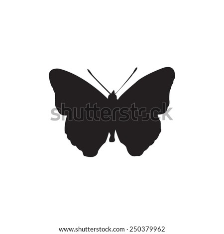 vector file of butterfly silhouette - stock vector