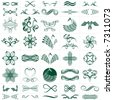 vector file of design elements, more than 30 designs - stock vector